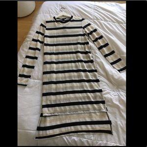 NWOT Zara knit dress silver threading 💛